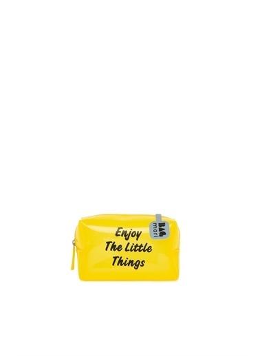 Bagmori  Kadın Baskılı Mini Makyaj Çantası M000006240 Sarı
